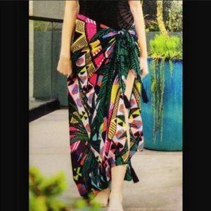 Mara Hoffman printed Rachel Zoe sarong scarf